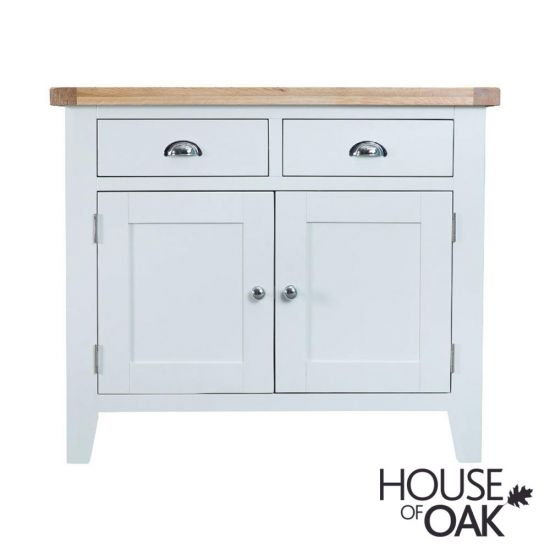 Florence Oak 2 Door 2 Drawer Sideboard - White Painted