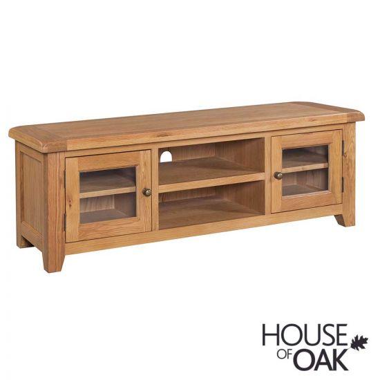 Canterbury Oak Wide Screen TV Cabinet