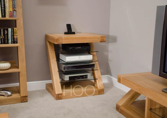 Z Oak Hi-Fi Cabinet