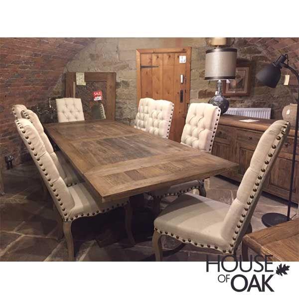 Hudson Bay Reclaimed Elm Large, Weathered Wood Dining Room Sets