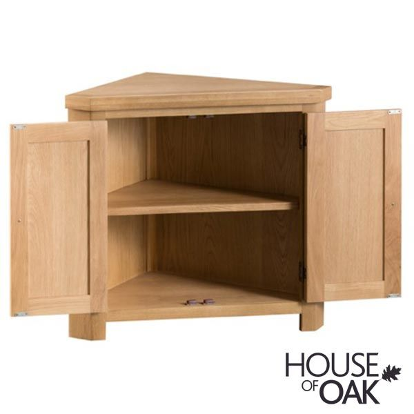 Harewood Oak Corner Cabinet By House Of, Corner Cabinet Furniture