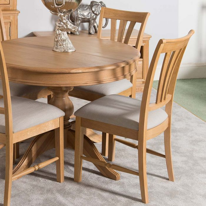 Lyon Oak Dining Chair With Almond Seat, Dining Room Seat Cushions
