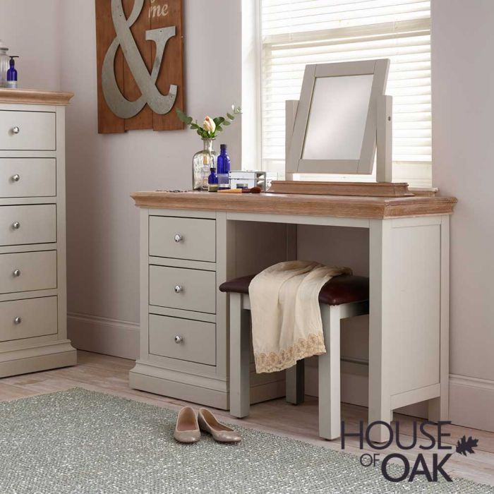 Porto Painted Dressing Table With, White Dressing Table With Built In Mirror