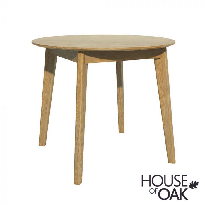 Scandi Round Dining Table Scandic Oak, Round Dining Table Uk