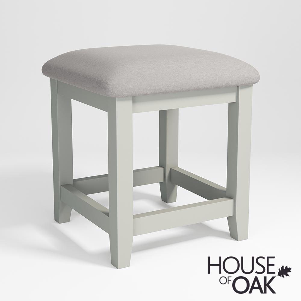 Ella Chalked Oak Misty Grey Bedroom Stool House Of Oak