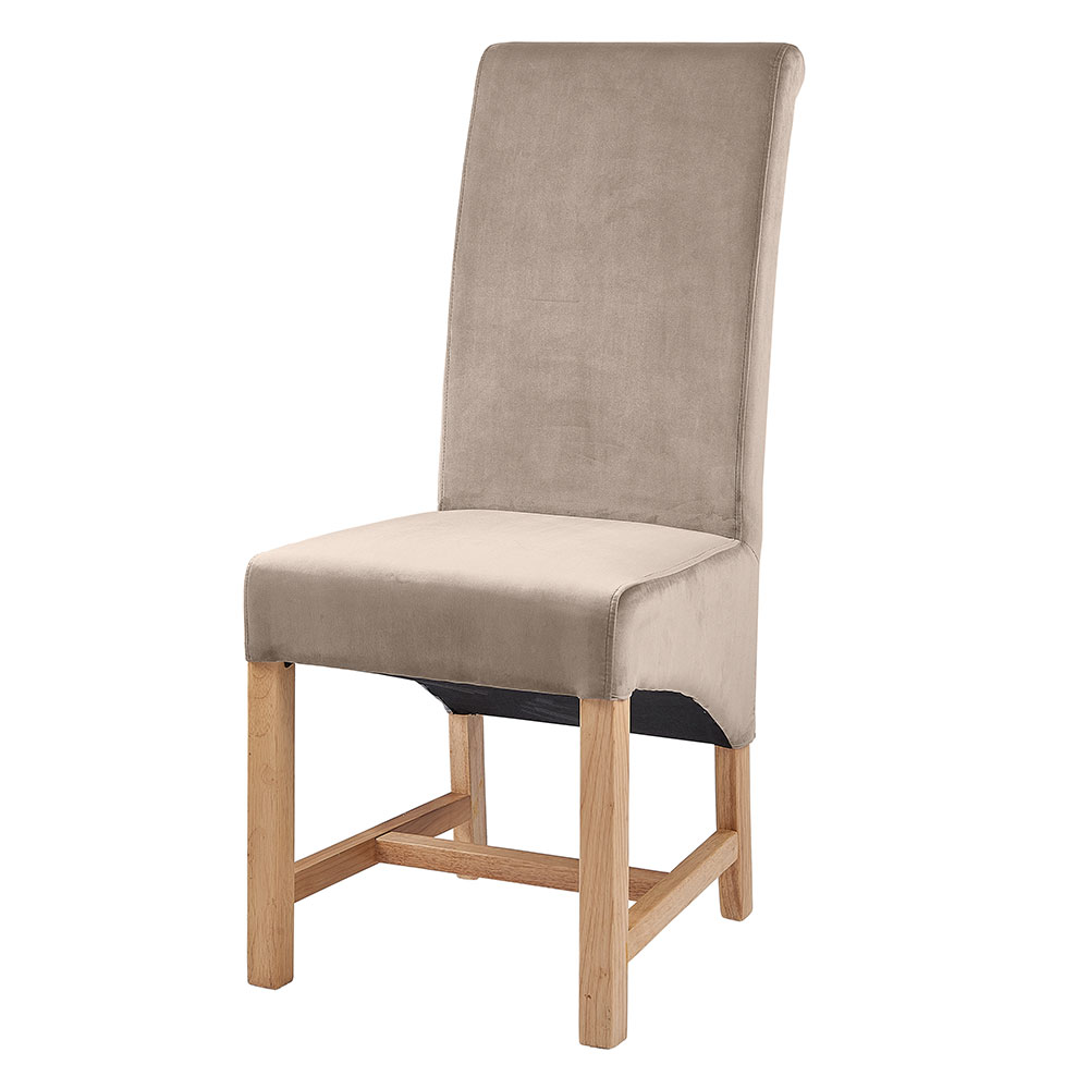 Paloma Beige Velvet Dining Chair