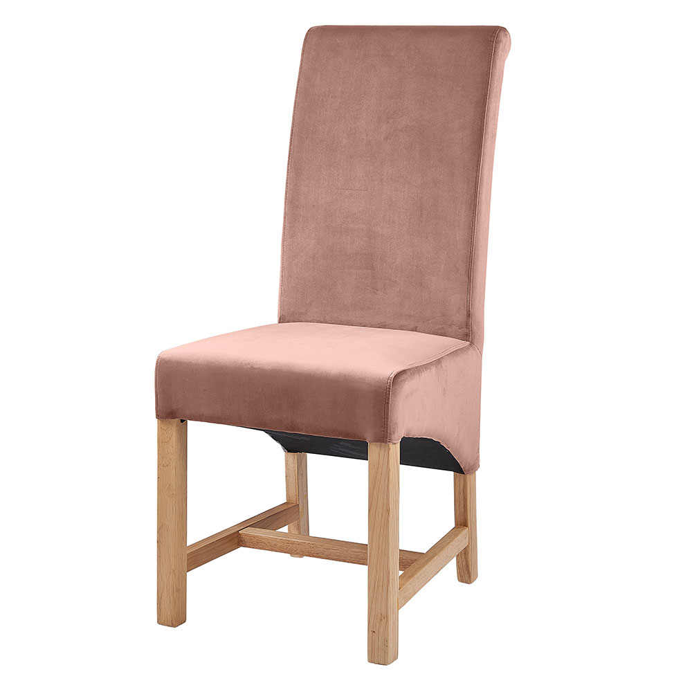 Paloma Rose Pink Velvet Dining Chair
