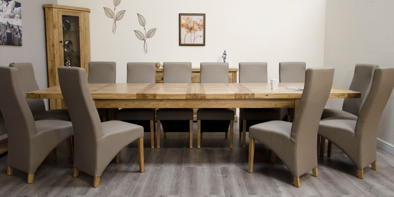 Deluxe Oak 240cm Extending Dining Table
