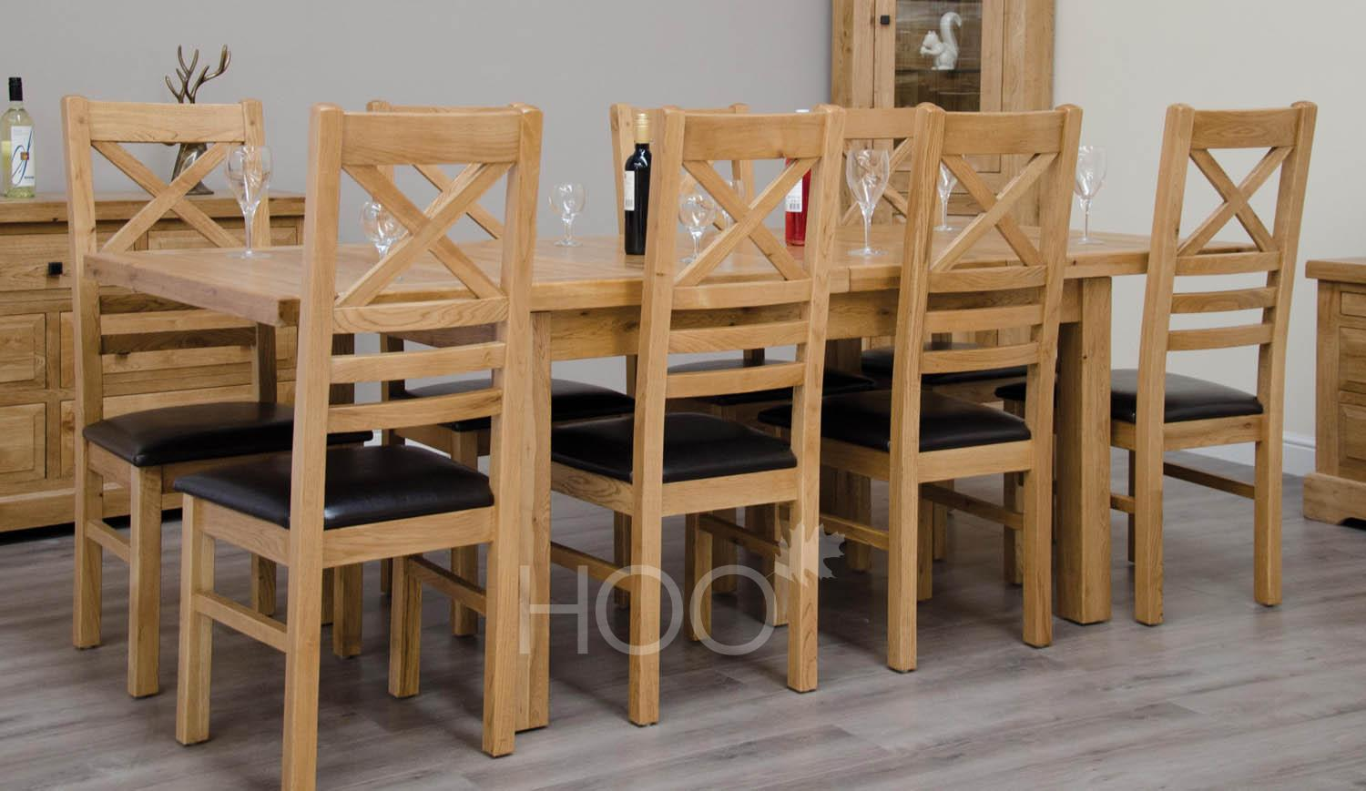 Deluxe Oak 150cm Extending Table