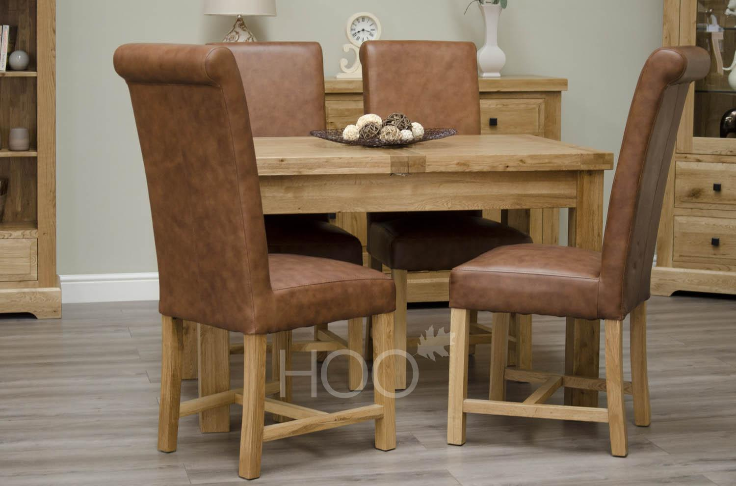 Deluxe Oak Butterfly Extending Dining Table