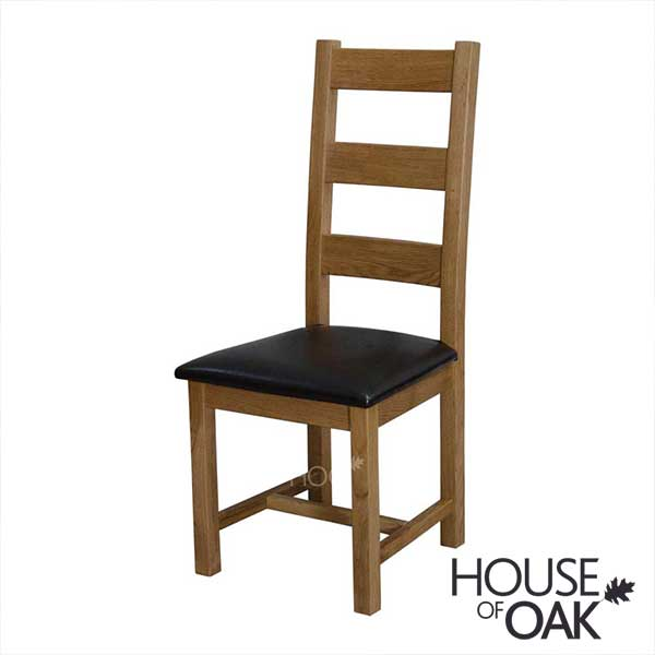 Deluxe Oak Ladder Back Dining Chair