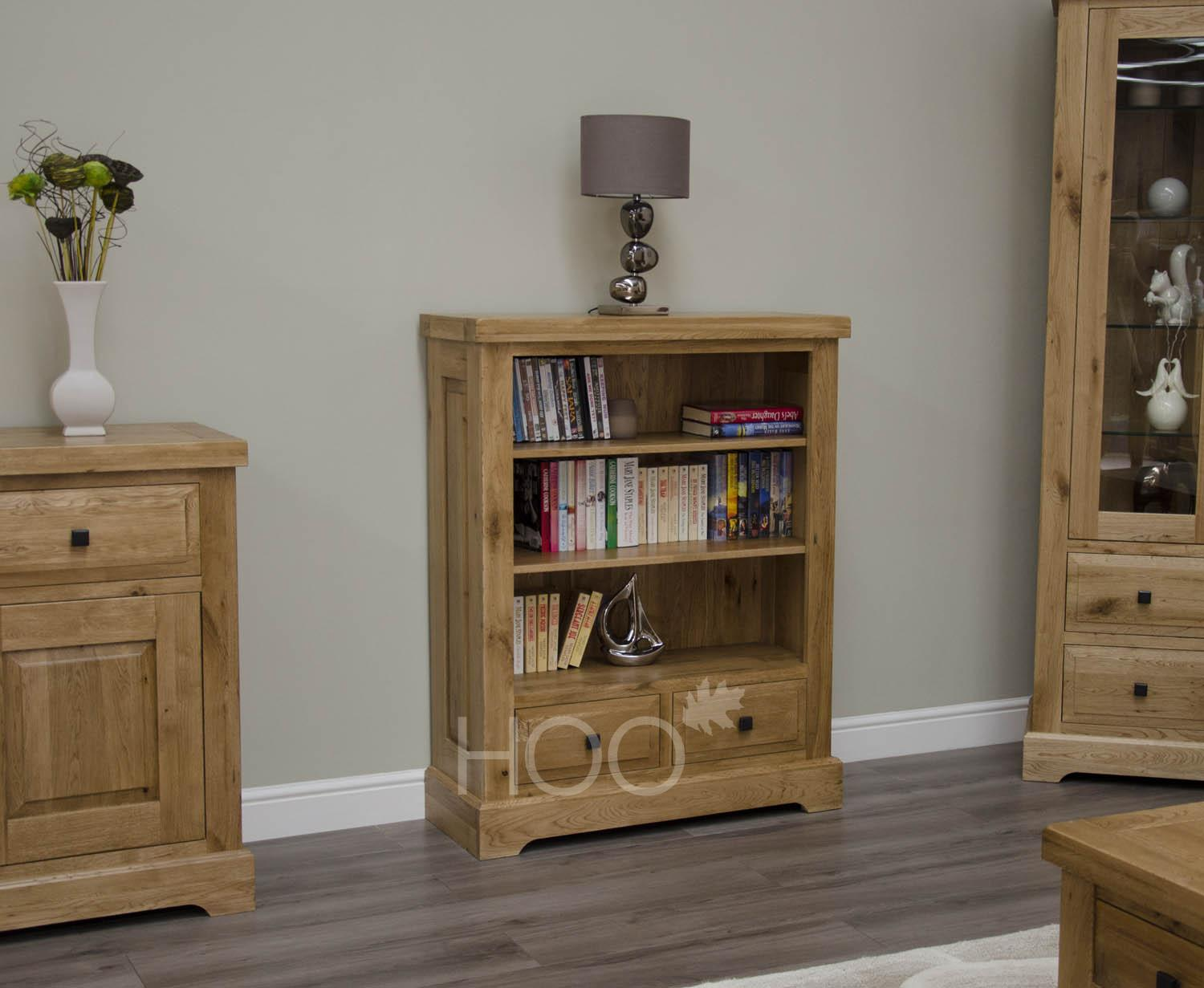 Deluxe Oak Small Bookcase