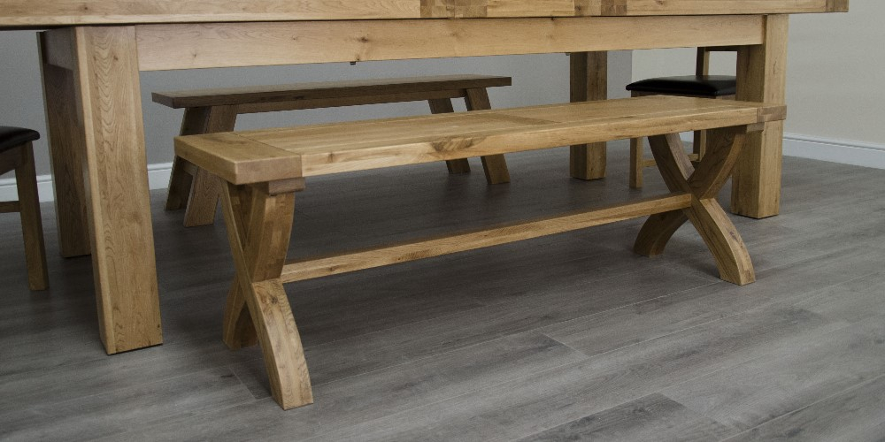 Chatsworth Oak X Leg Bench
