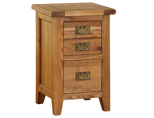 Hampshire Oak 2 Drawer Bedside Cabinet