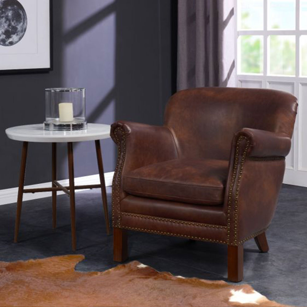 Fairford - Vintage Leather Tub Chair