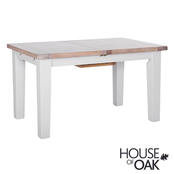 New Hampshire Chalked Oak & Light Grey 1.8m Extending Table
