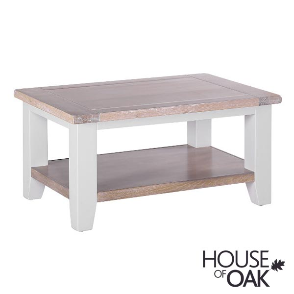 New Hampshire Chalked Oak & Light Grey Rectangular Coffee Table