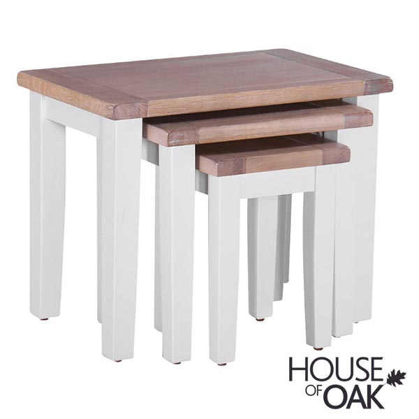 New Hampshire Chalked Oak & Light Grey Nest of Tables