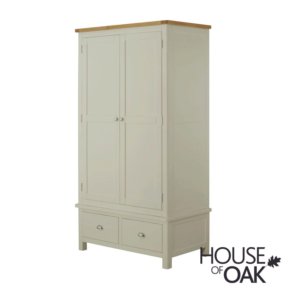 Portman Painted Gents Wardrobe in Stone Grey