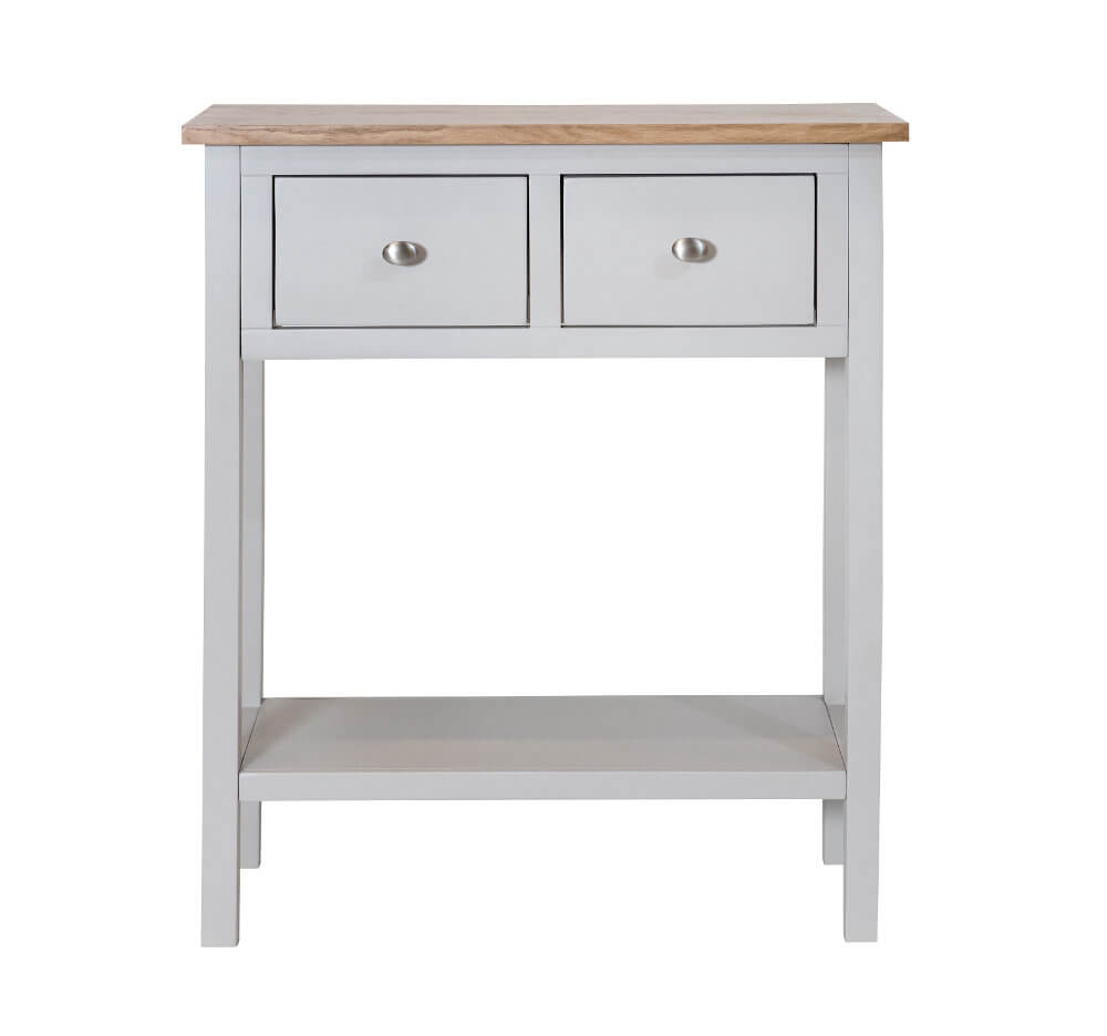 Simply Oak in Grey Console Table