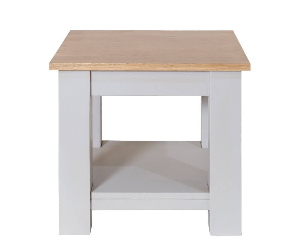 Simply Oak in Grey Lamp Table with Shelf