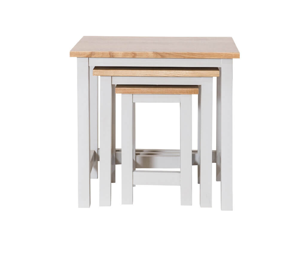 Simply Oak in Grey Nest of Tables