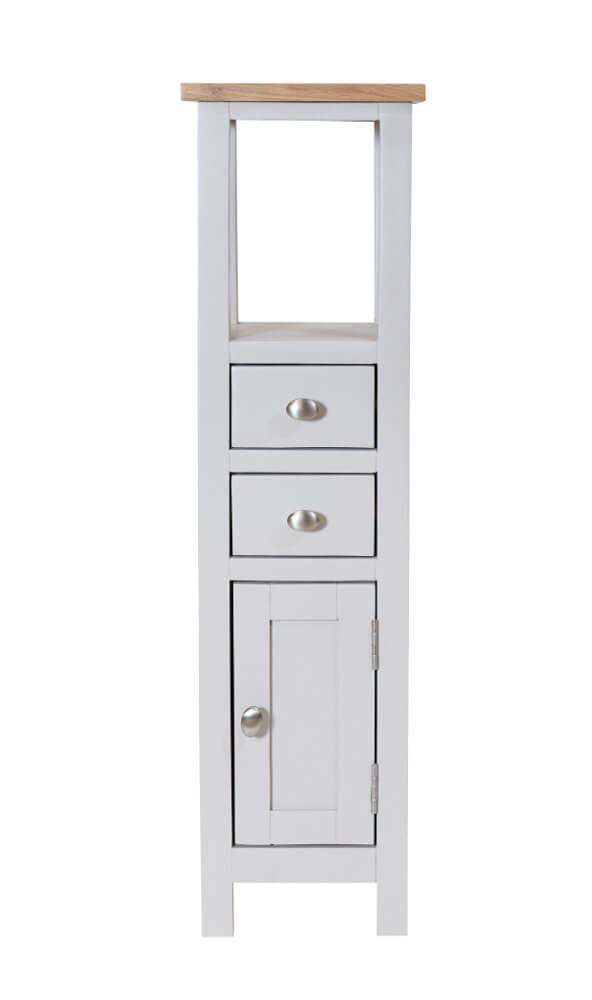 Simply Oak in Grey Tower Cabinet Open Top