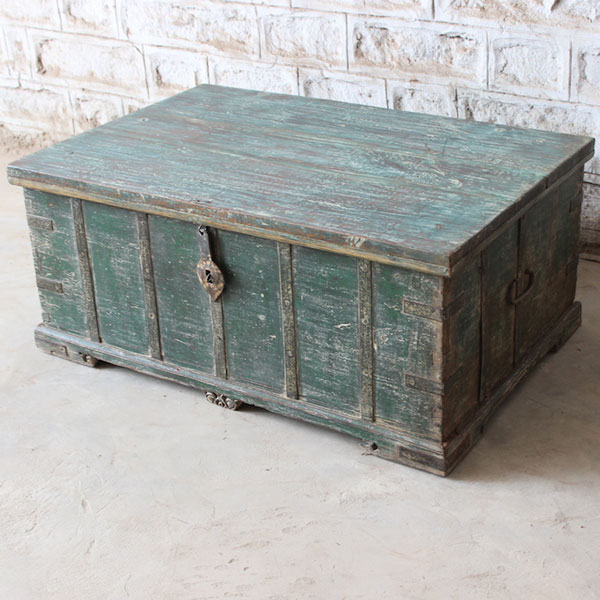 One of A Kind Vintage Wooden Trunk