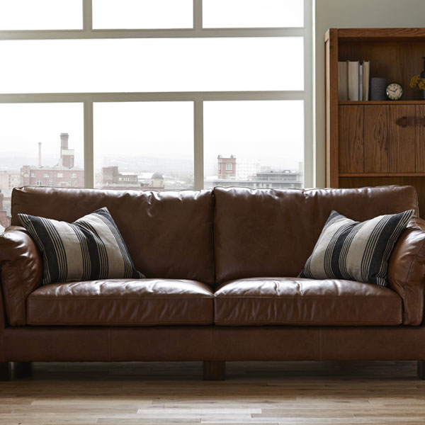 Gable 3 Seater Sofa in Riders Nut