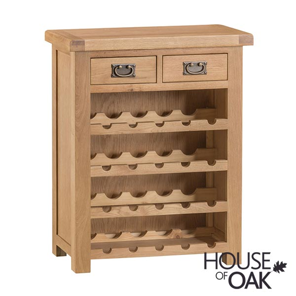 Harewood Oak Small Wine Rack