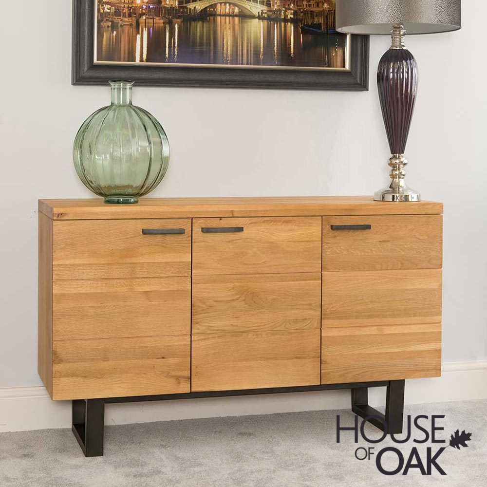 Harmony Oak - 3 Door Sideboard
