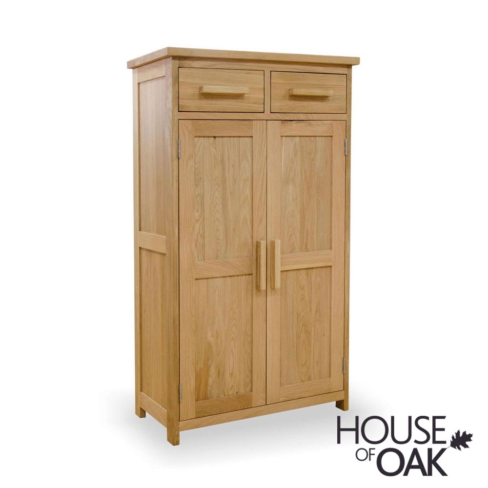 Opus Solid Oak Shoe Cupboard