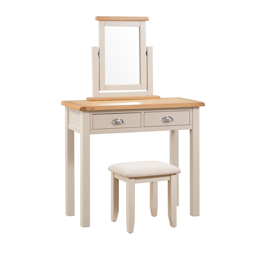 Chester Grey Painted Dressing Table COMPLETE SET
