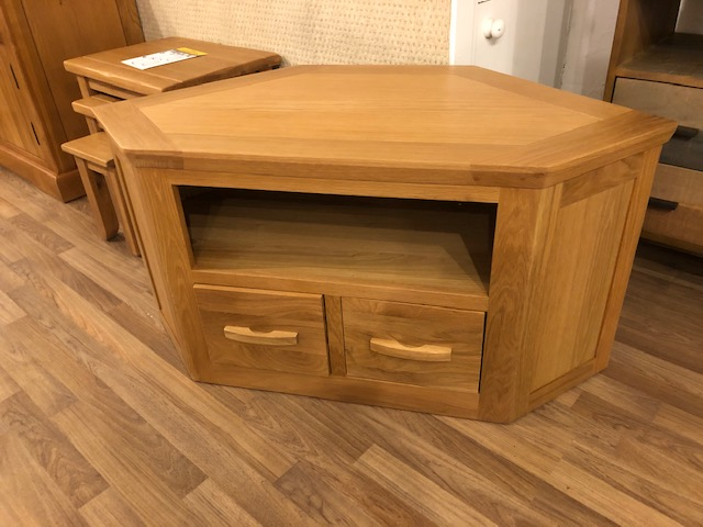 Westminster Oak Corner TV Cabinet