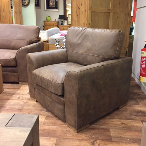 Mayfair Sofa 1 Seater in Churchill Chocolate