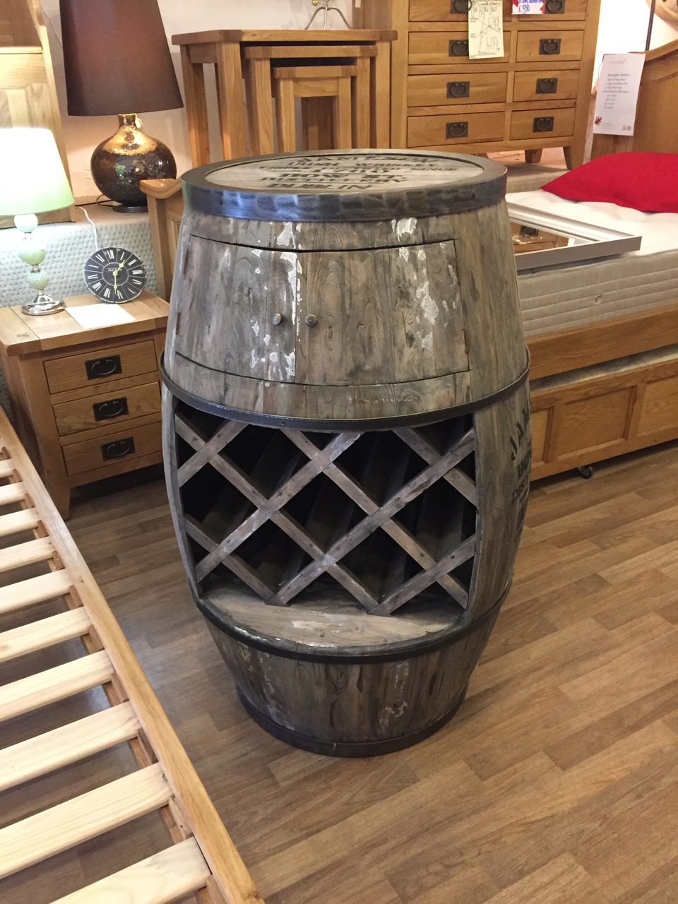 Weathered Oak and Lime Beer Barrel