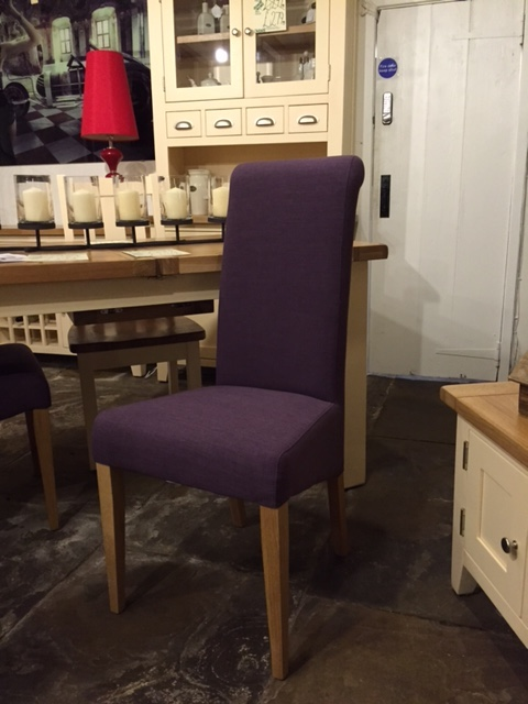 Italia Chair in a Purple Fabric