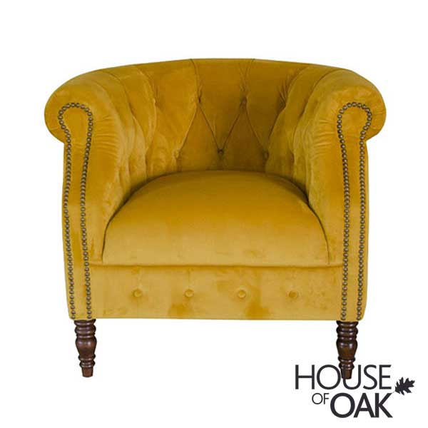 Jude Chair in Plush Turmeric