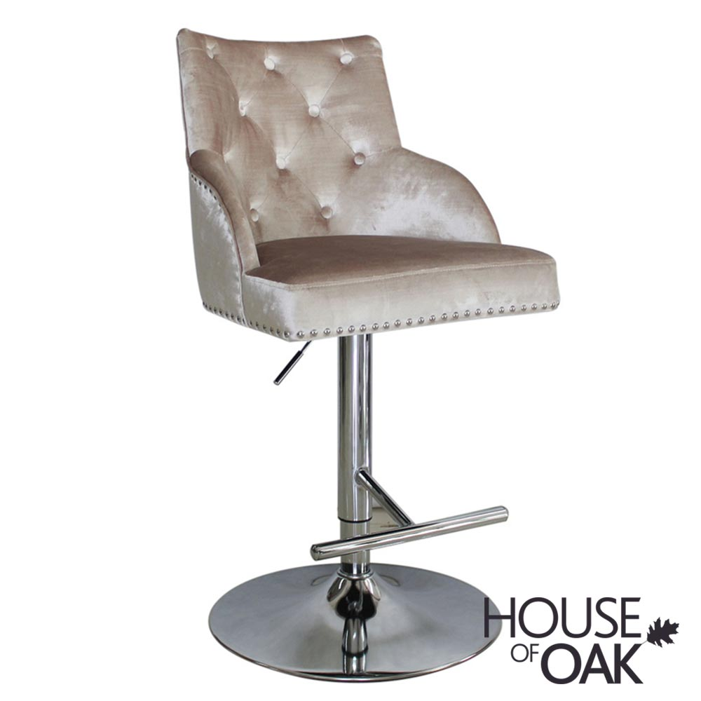 Kiki Gas Lift Bar Stool - Champagne
