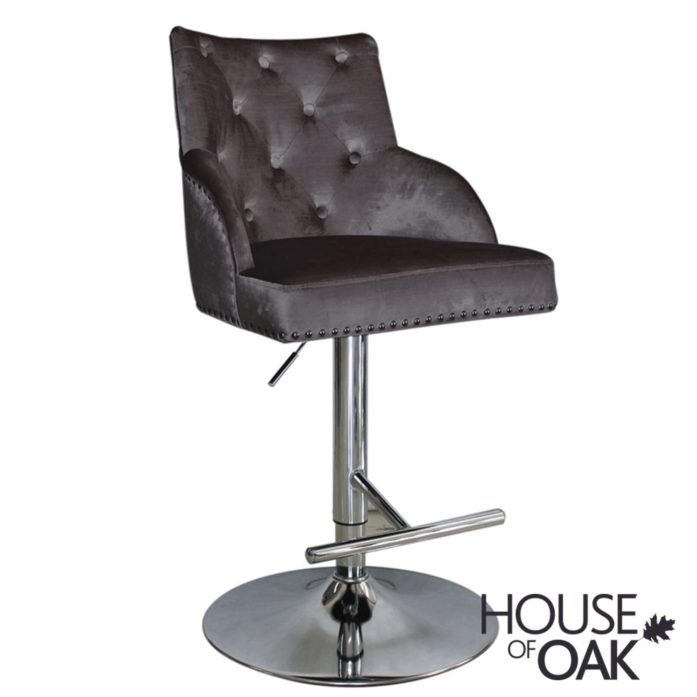 Kiki Gas Lift Bar Stool - Charcoal