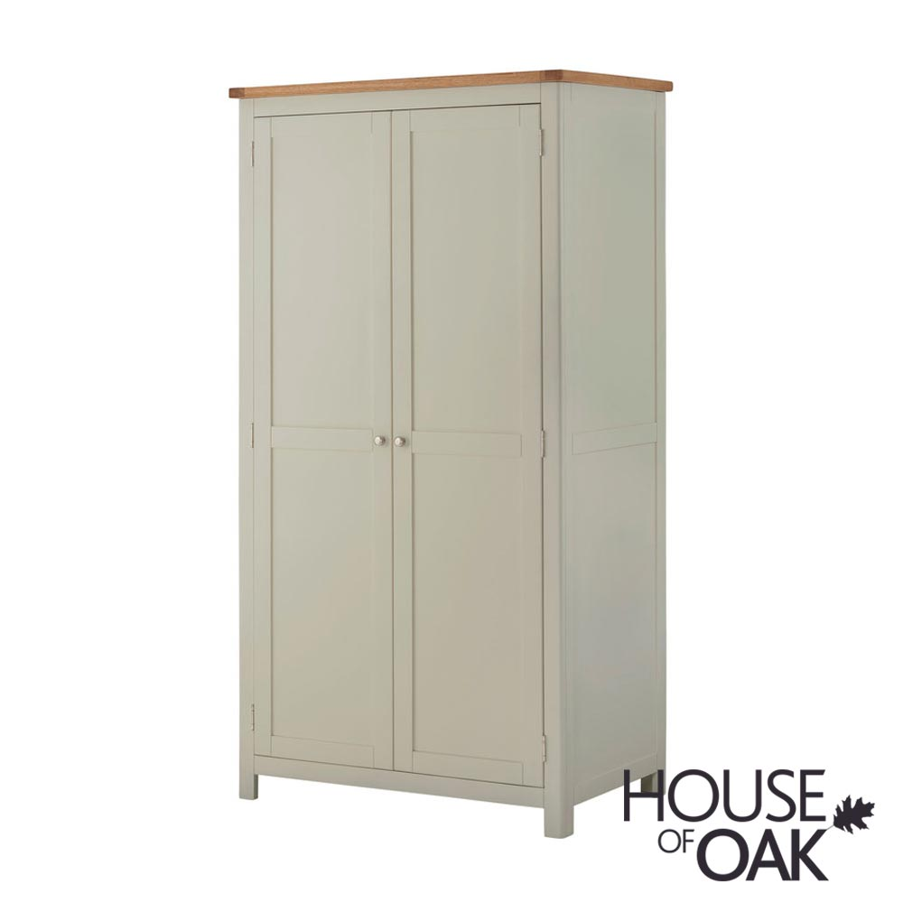 Portman Painted Ladies Wardrobe in Stone Grey