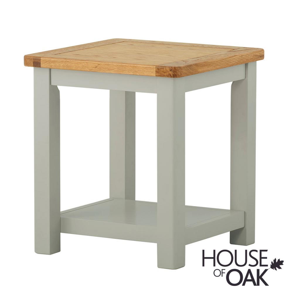 Portman Painted Lamp Table in Stone Grey