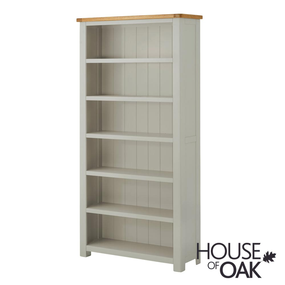 Portman Painted Large Bookcase in Stone Grey