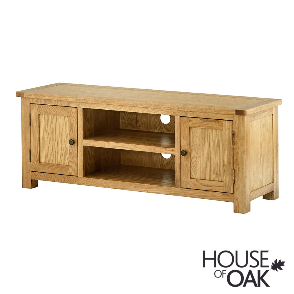 Portman Large 2 Door TV Cabinet in Oak