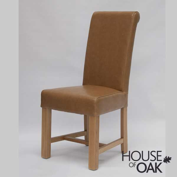 Louisa Tan Bycast Leather Dining Chair