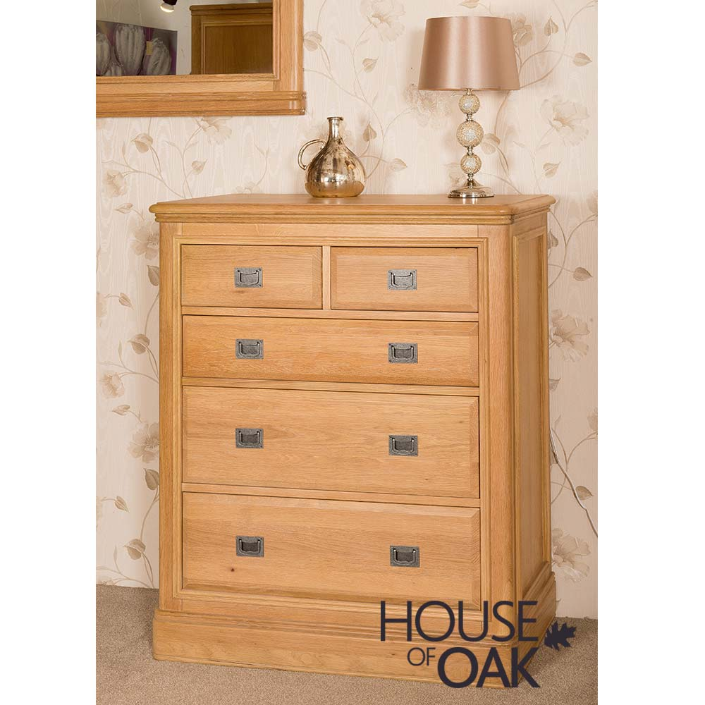Lyon Oak 2 Over 3 Chest of Drawers