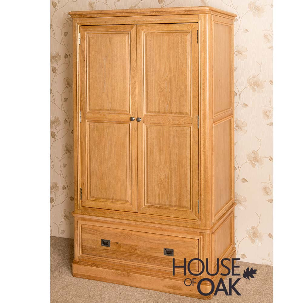 Lyon Oak Double Wardrobe