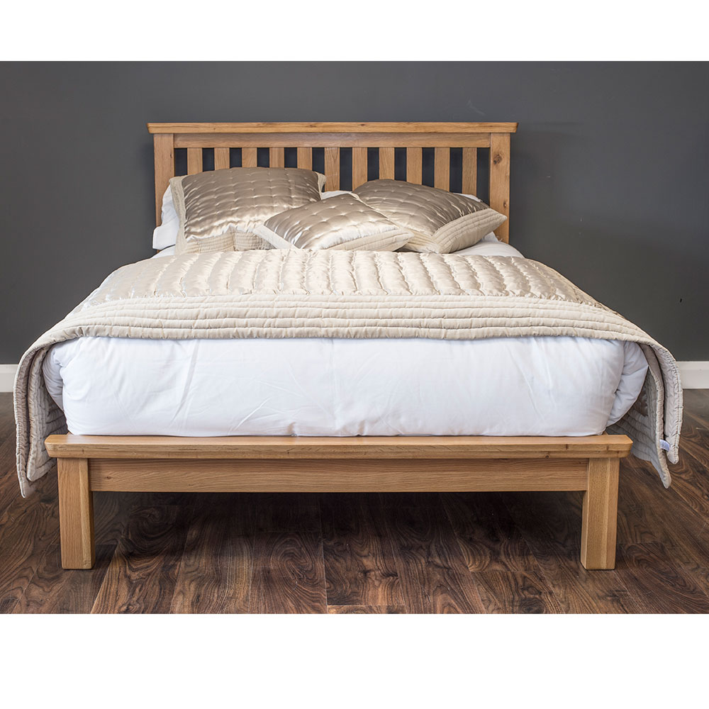 York 4FT Bed in Oak