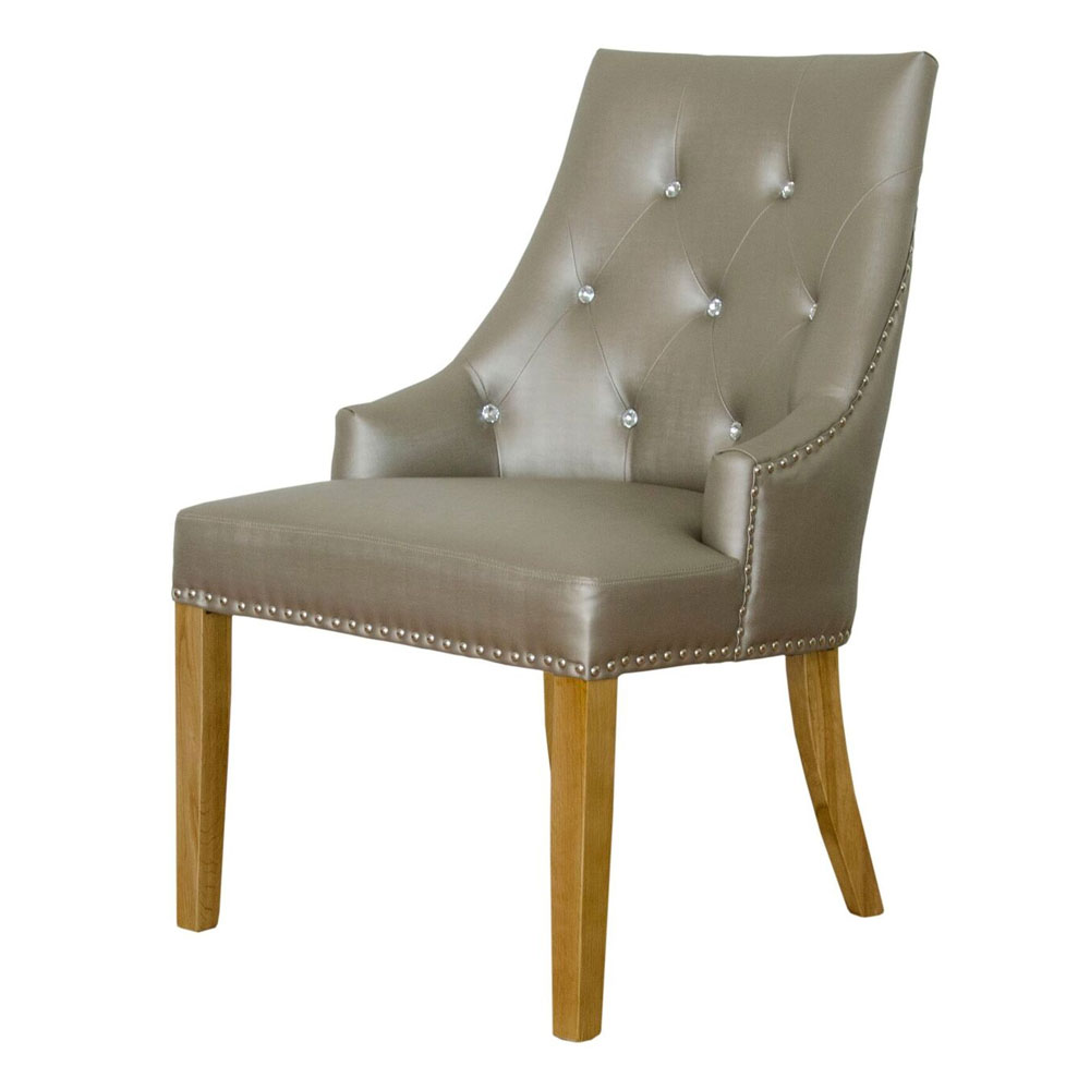 Martha Fabric Dining Chair in Stone