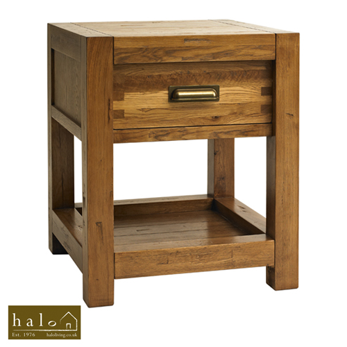 Montana Lamp Table in Nibbed Oak